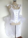 White Corset with Sparkle Tulle Bustle - Stardust